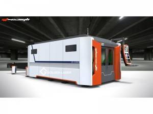 Jenis 1000W IPG Closed Fiber Laser Cutting Machine