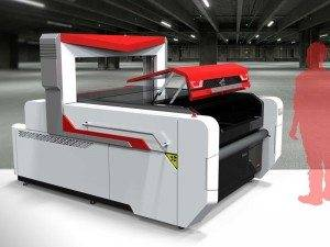 Auto Feeding Flying Scan Laser Kukata Machine kwa Printed Fabrics