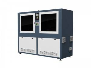 Automatische CCD Camera Laser Cutter voor geweven labels in Roll