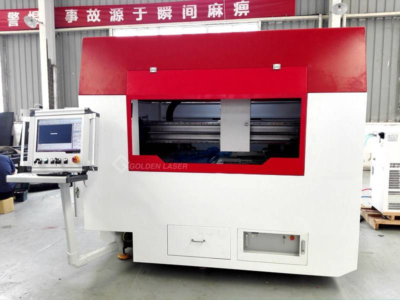 Closed Type Fiber Optic Laser Cutting System for Metal Sheet
