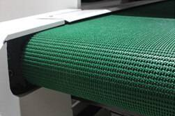 Conveyor mesh belt working table