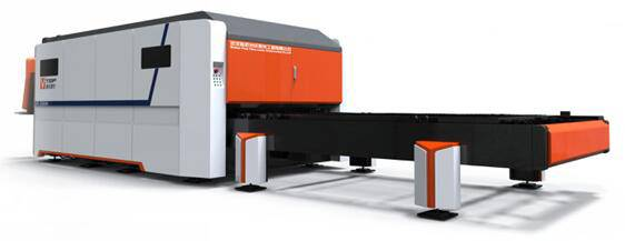 Full Tîpa Pallet Table Fiber Lazer Machine Cutting