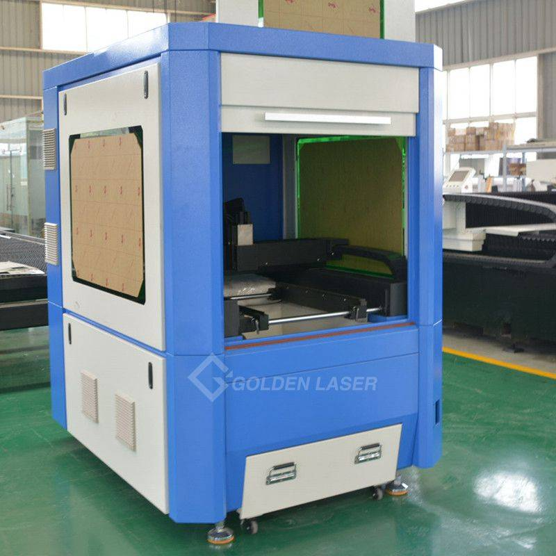 GF-6060 fiber laser cutter in the workshop