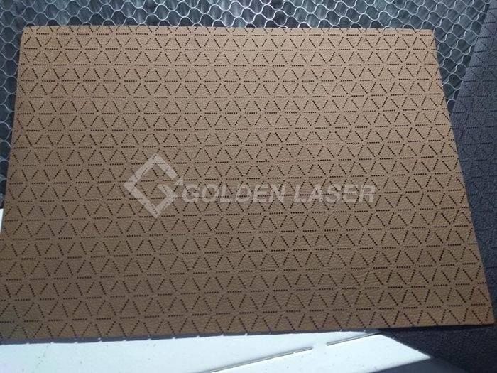 Galvo laser engraving for leather