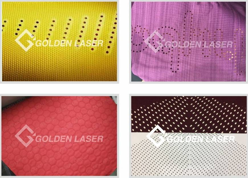 Galvo laser perforating textile samples