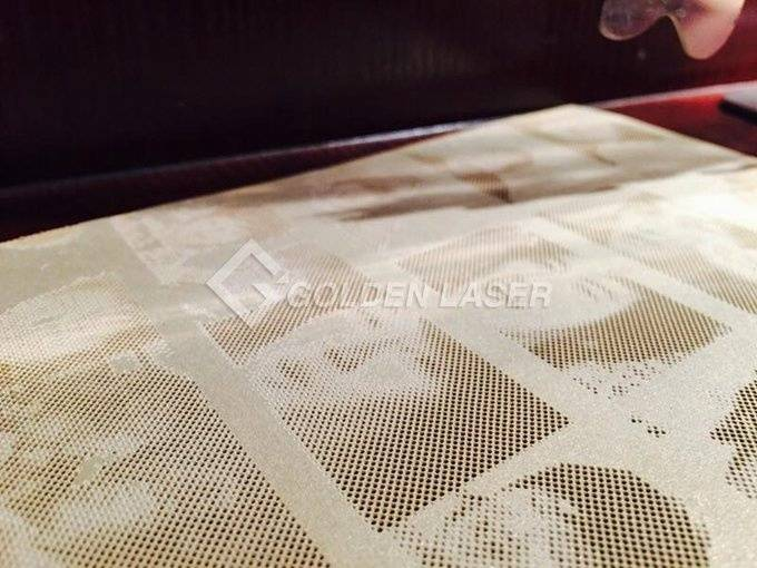 Galvo laser perforation for paper