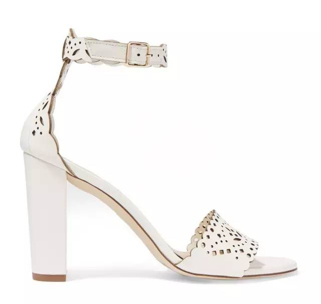 J.CREW charlotte leather sandals with laser-cut-outs