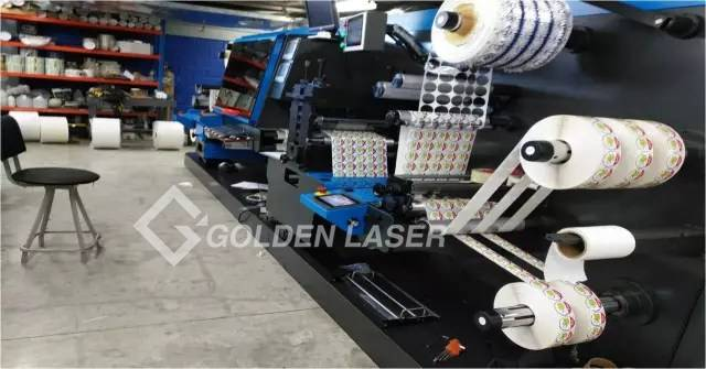 LC-350D double-head high speed laser die cutting machine Labelexpo