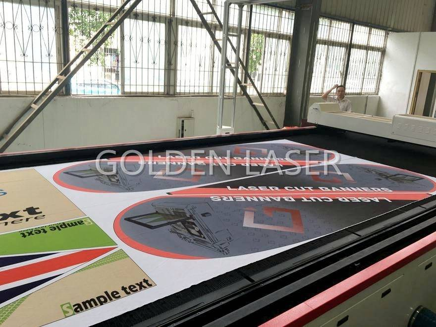 Laser Cutting Machine for Flags Banners