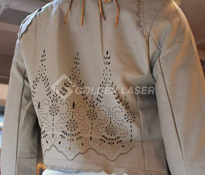 Leather garment laser engraving and punching