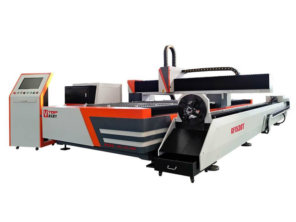 Metal Sheet and Tube Fiber Laser Cutting Machine GF-1530T
