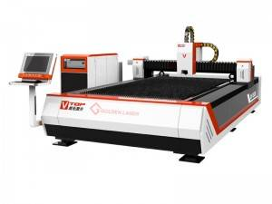 Open Type 1000W Fiber Logam Mesin Laser Cutting
