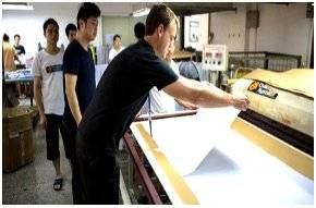 Paste paper onto textile