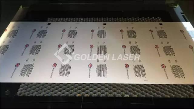 X-Y laser cutting machine for label