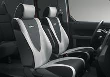 Laser application for car seat covers, car mats, automotive interior