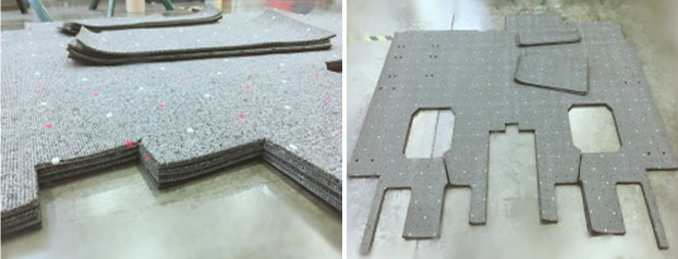 aviation carpets laser cutting