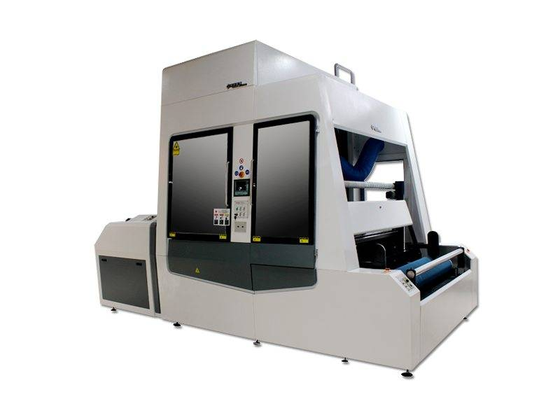 18 Years Factory offer Roll to Roll Denim Laser Engraving / Marking Machine to Madrid Manufacturer