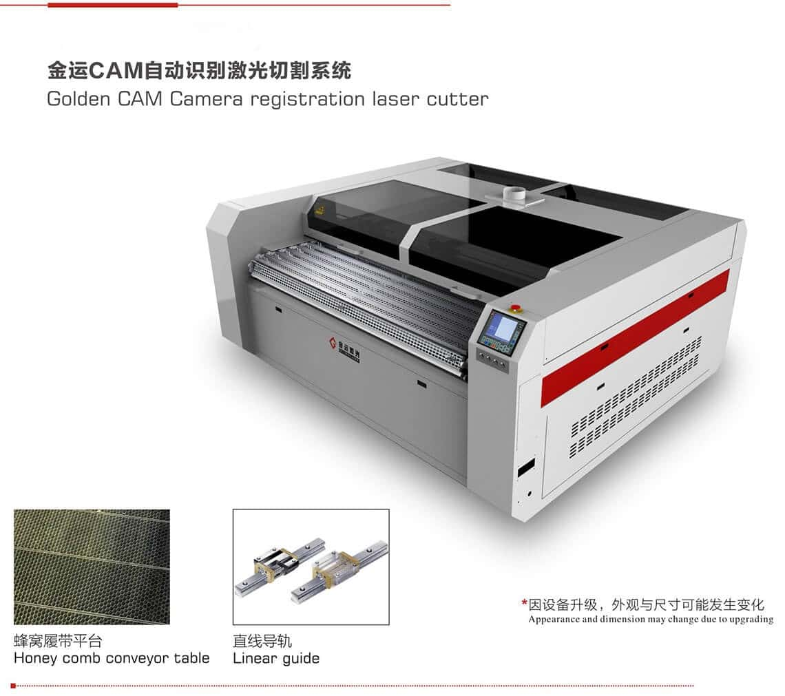 camera registration laser cutter