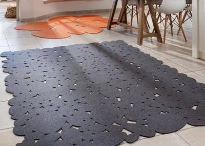 Laser cut out carpet, warm and welcoming