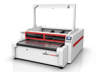 Independent Dual Head Vision Camera Laser Cutting Machine