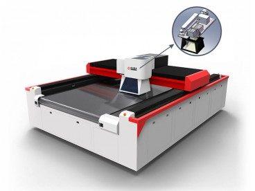 I-Galvo ne-Gantry Laser Engraving Cutting Machine for Textile, Isikhumba