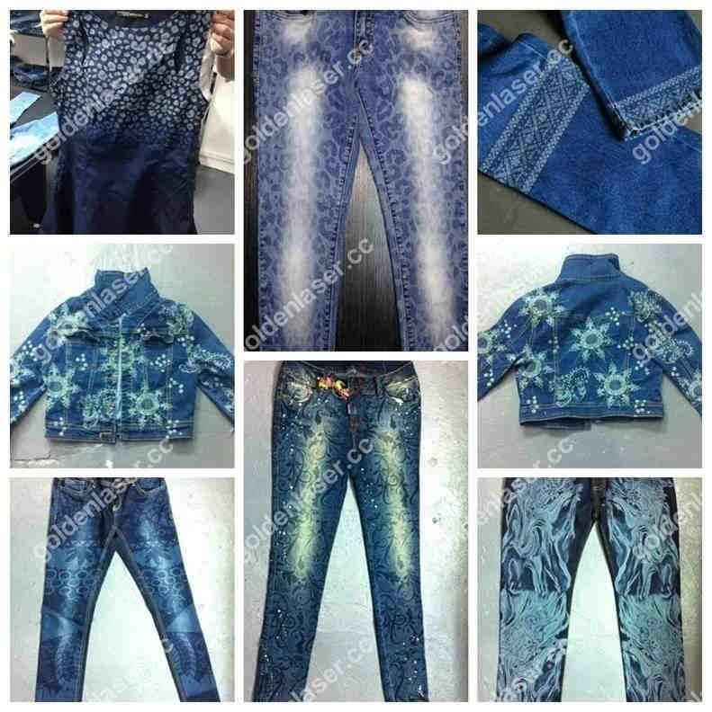 jeans laser engraving samples