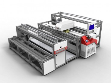 Lace Laser Cutting Machine for Warp Knitted Curtain, Tablecloth