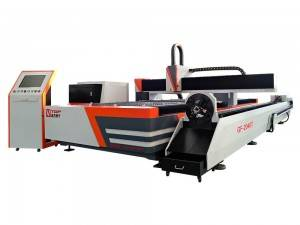 Store formater Fiber Laser Cutting Machine til metalplade og Tube