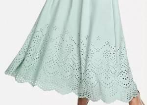 Laser cut dresses, embellishment of romantic summer