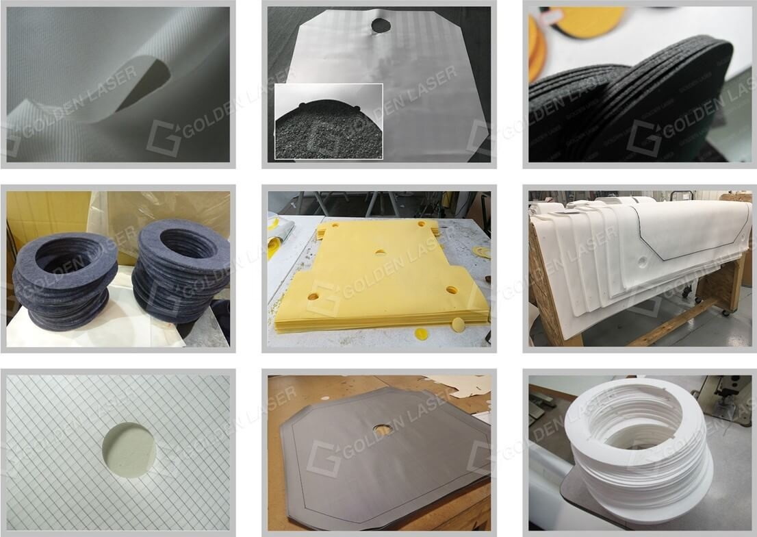 laser cut filter cloth samples
