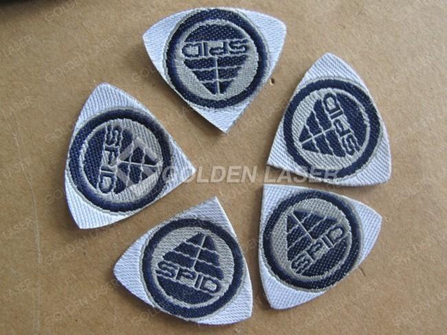 laser cut woven label