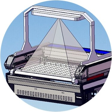 laser cutter with camera drawing