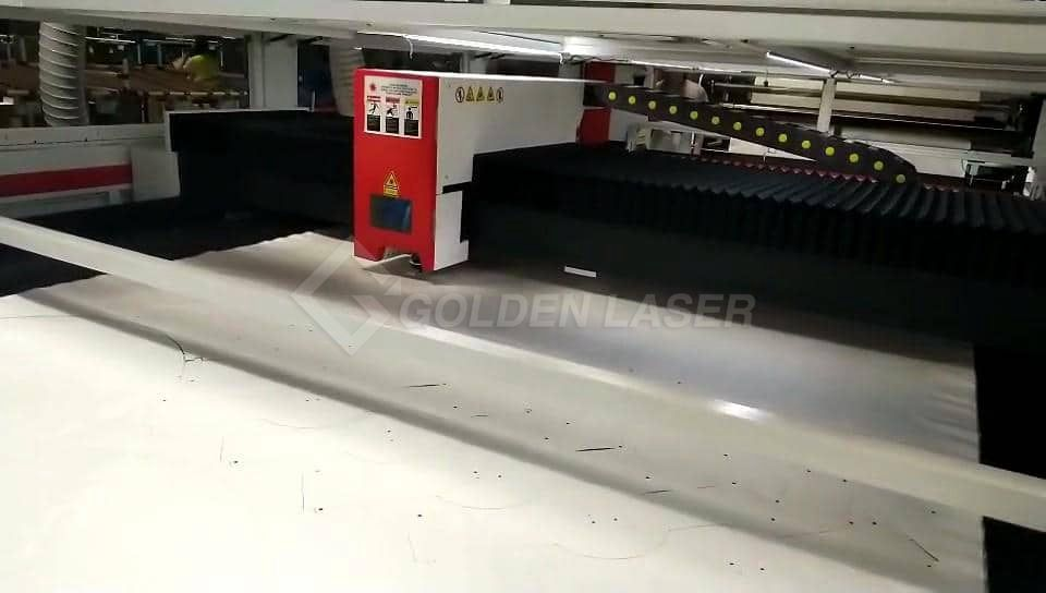 laser cutting airbag parts