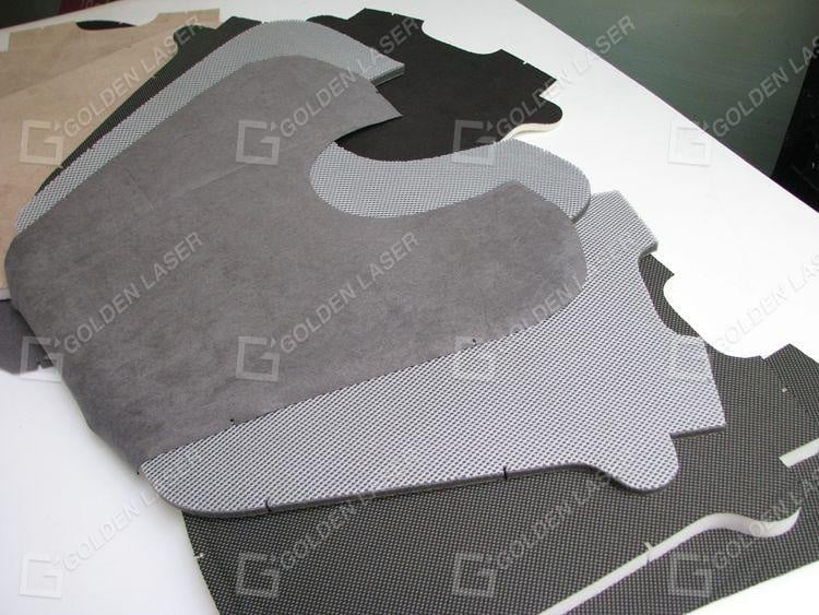 laser cutting car seat cushion