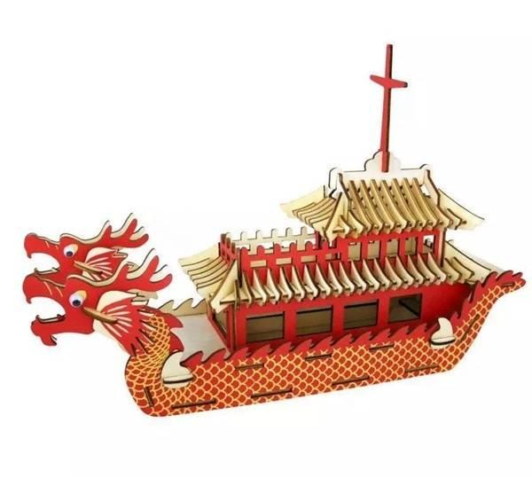 laser cutting dragon boat