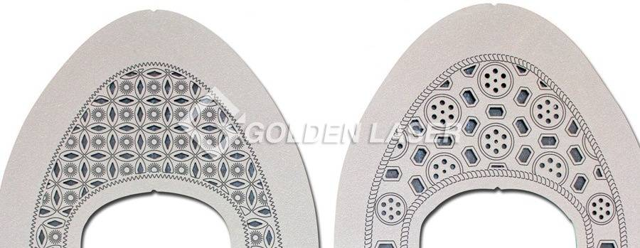 laser cutting engraving for leather shoe upper