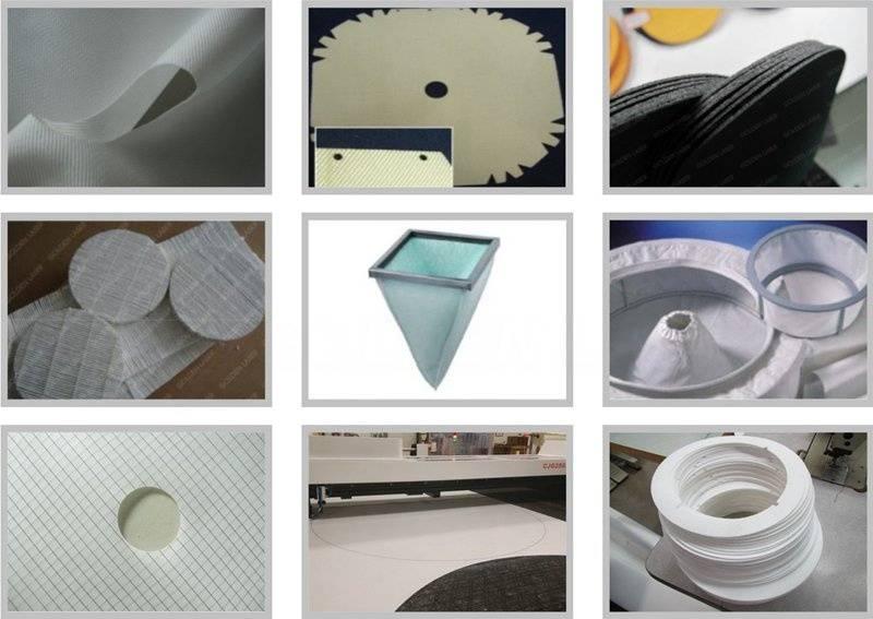 laser cutting filter cloth samples