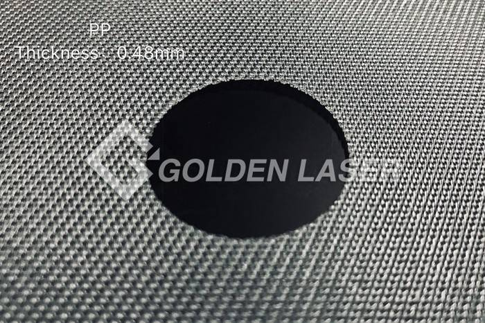 laser cutting filter material – PP 0.48mm