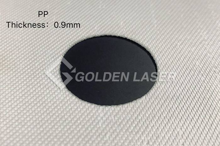 laser cutting filter material – PP 0.9mm
