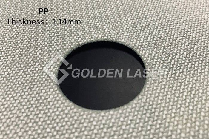 laser cutting filter material – PP 1.14mm