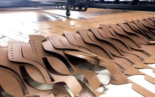laser cutting for leather shoe