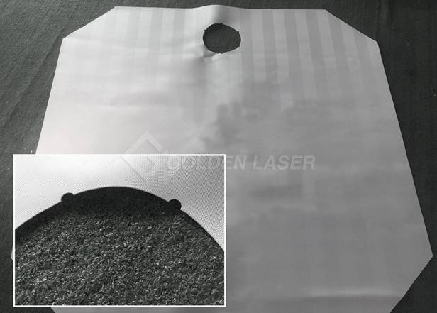 laser cutting of filter cloth