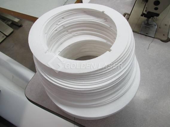 laser cutting of filter media