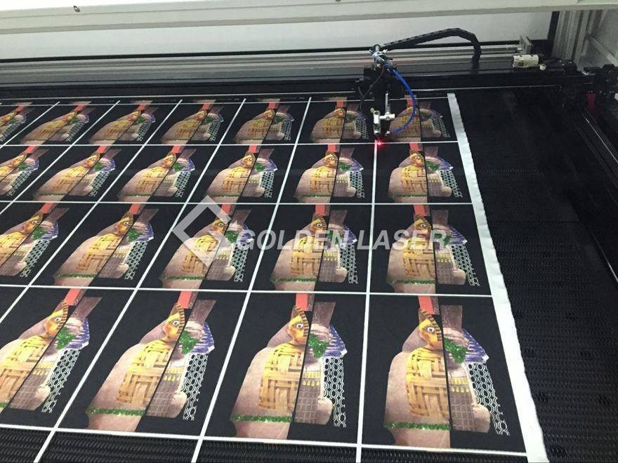 laser cutting printed fabric