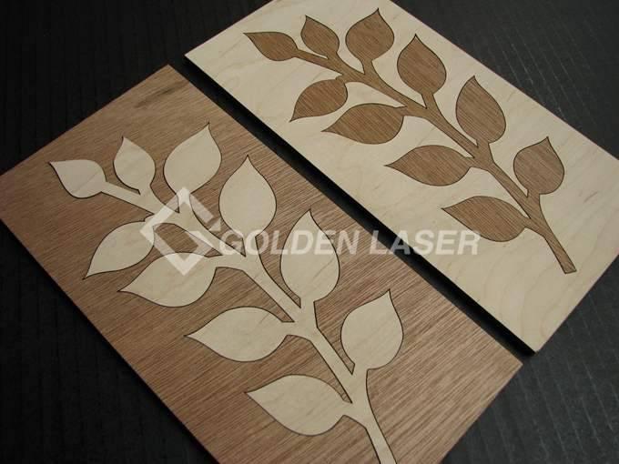 Acrylic Mdf Wood Veneer Golden Laser