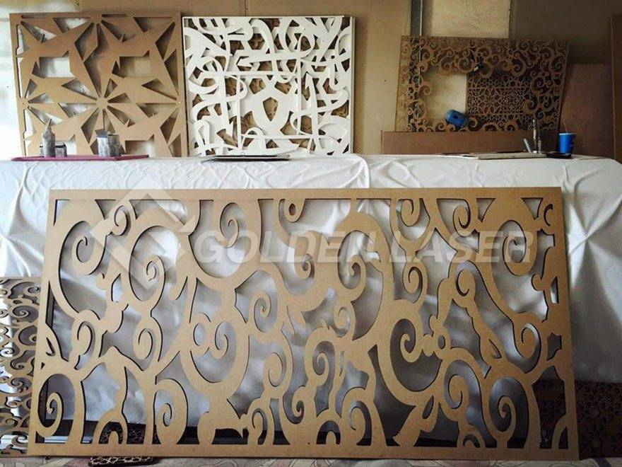 laser cutting wood decoration made by customers 2