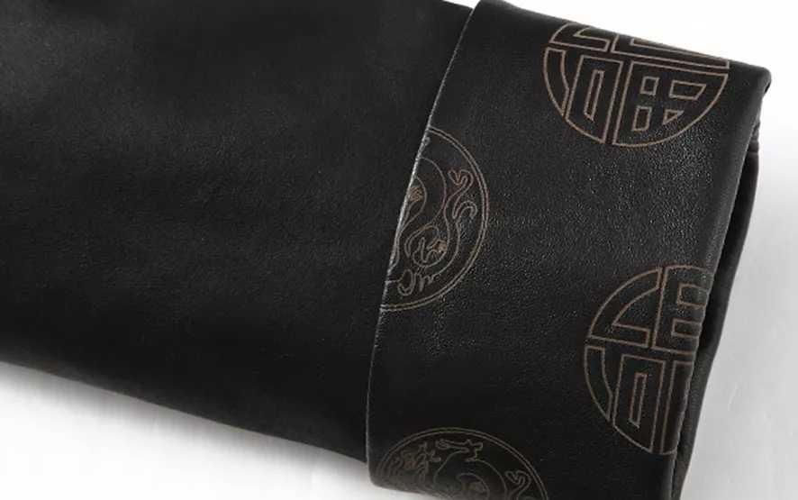 laser marking Chinese style leather jacket