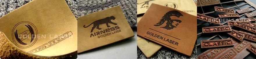 laser marking leather labels
