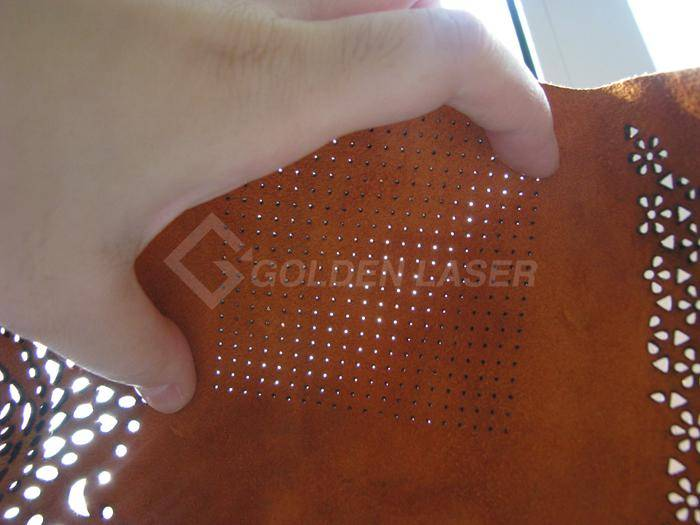 laser perforating leather