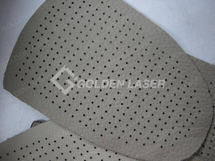 laser punching for leather footwear